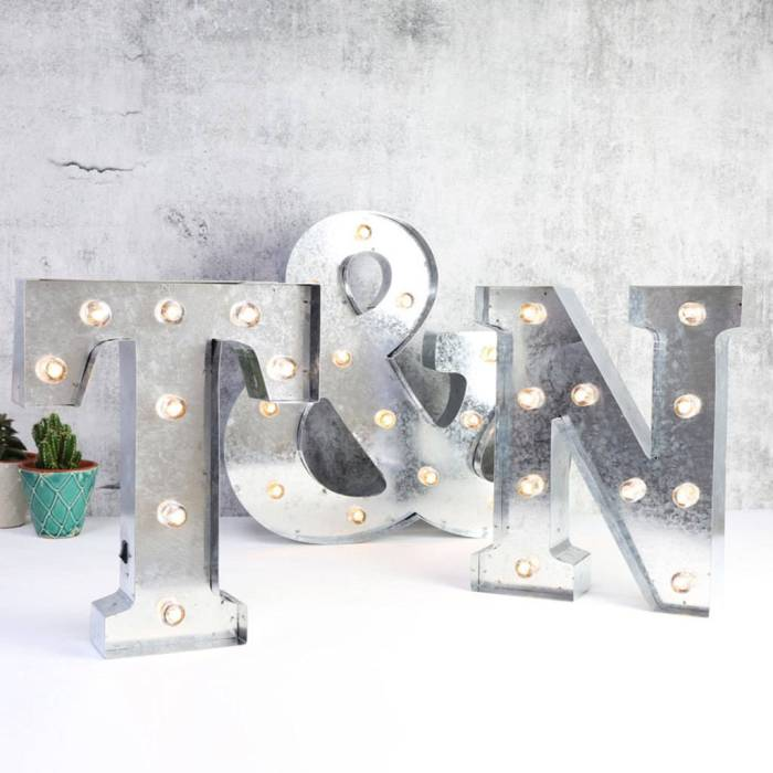 Fabulous industrial metal LED light letters
