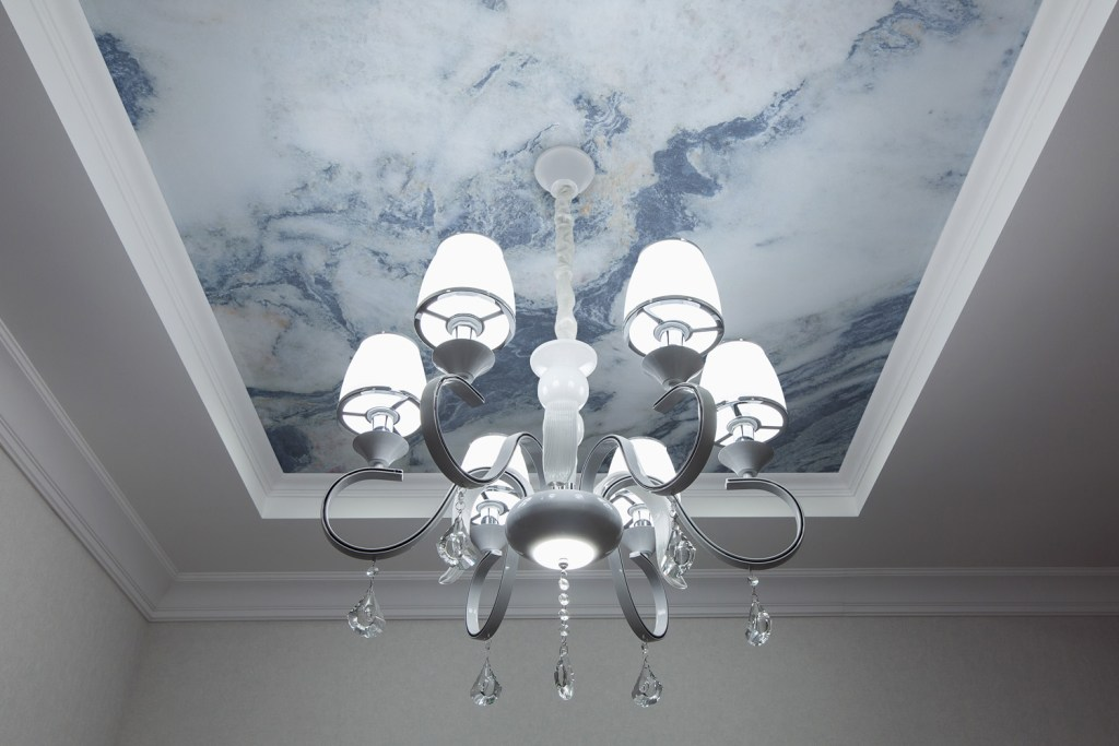 Wall murals can be used to decorate ceilings too - isn't it cool?