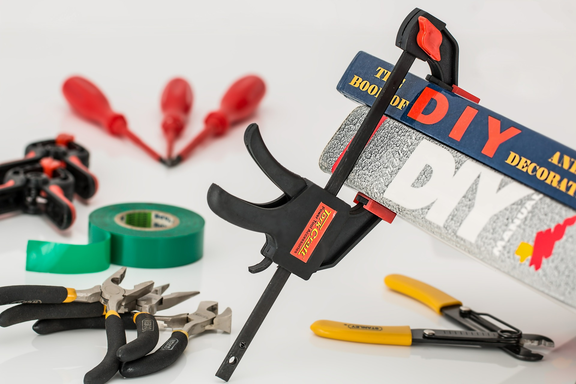 Before starting a DIY project, gather your tools and prepare your space