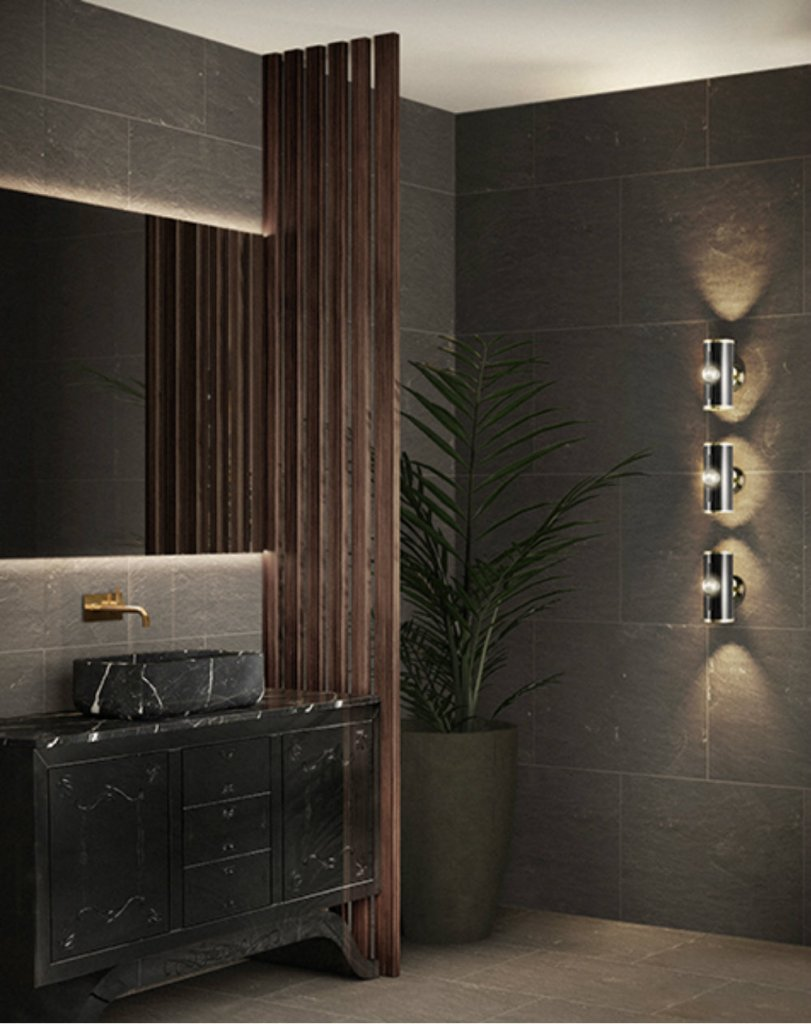 Create a striking black bathroom in your home