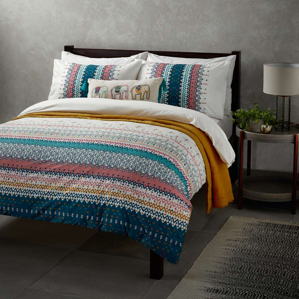 Add a touch of the East to your bedroom design with a Jaipur inspired duvet cover