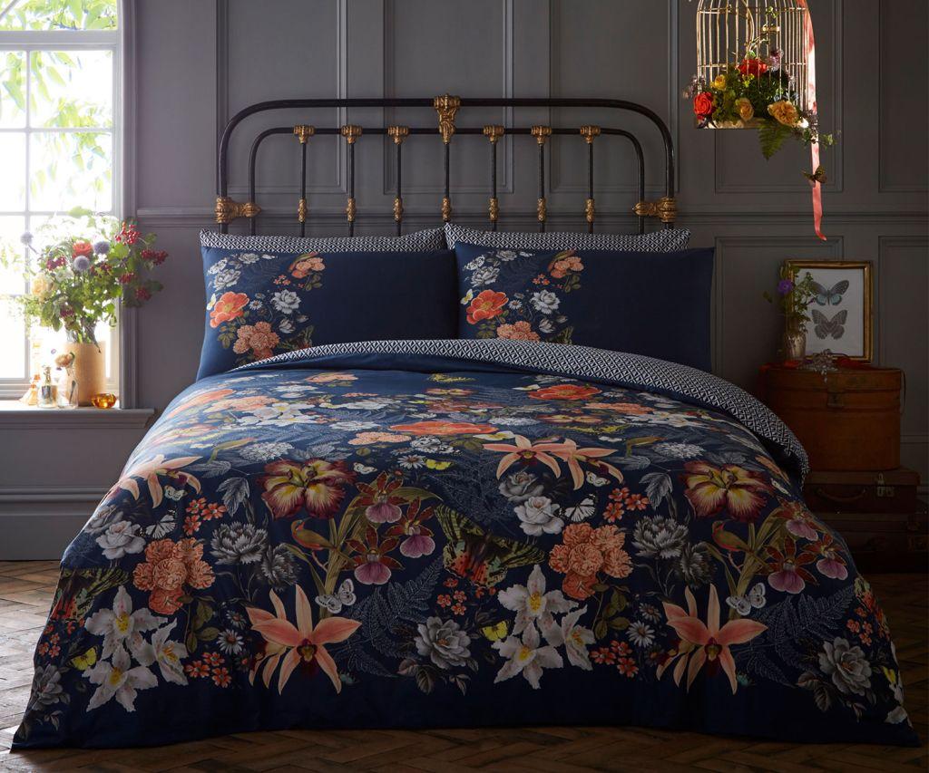 Love this contemporary botanical duvet bedding set
