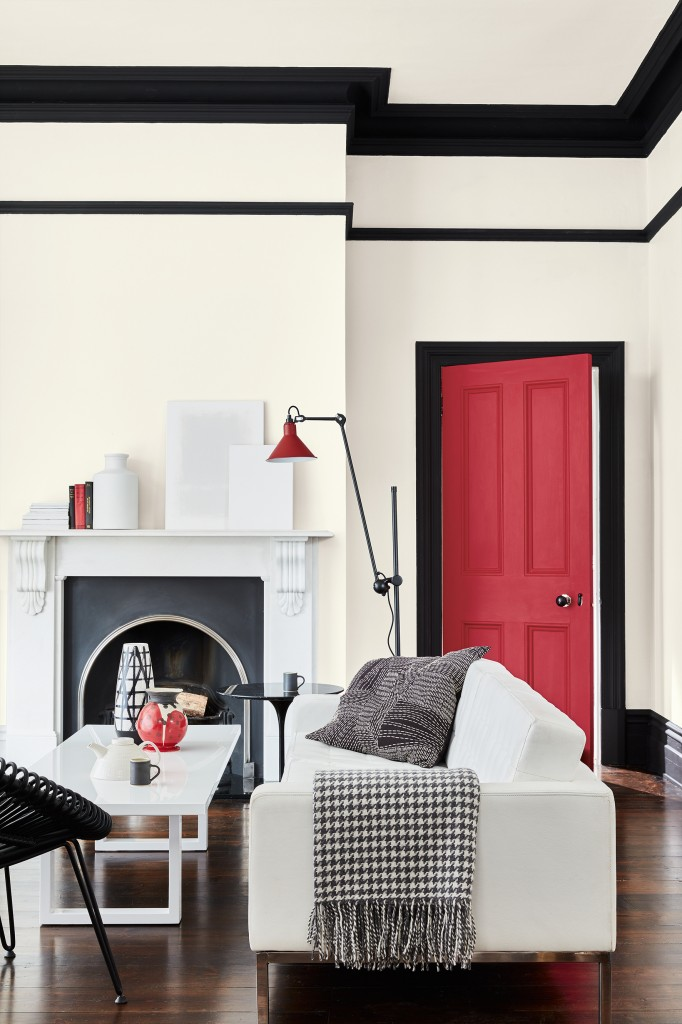 Be bold and paint your skirting boards in a contrasting colour to the walls