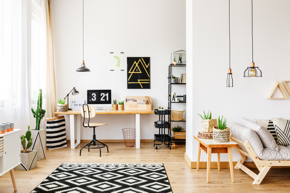 Installing half a wall is a clever way to divide and organization your interior space into zoned areas