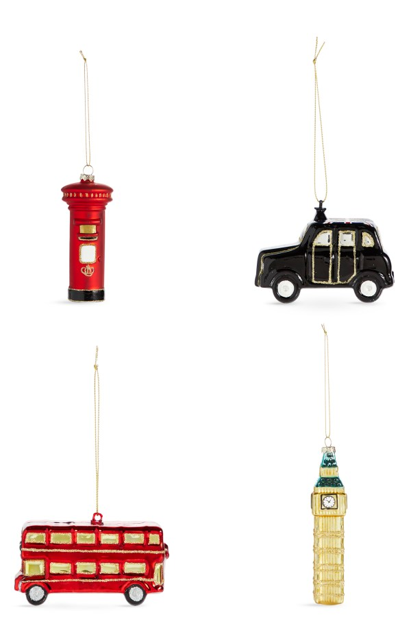 Fun & quirky moulded glass tree decorations from M&S