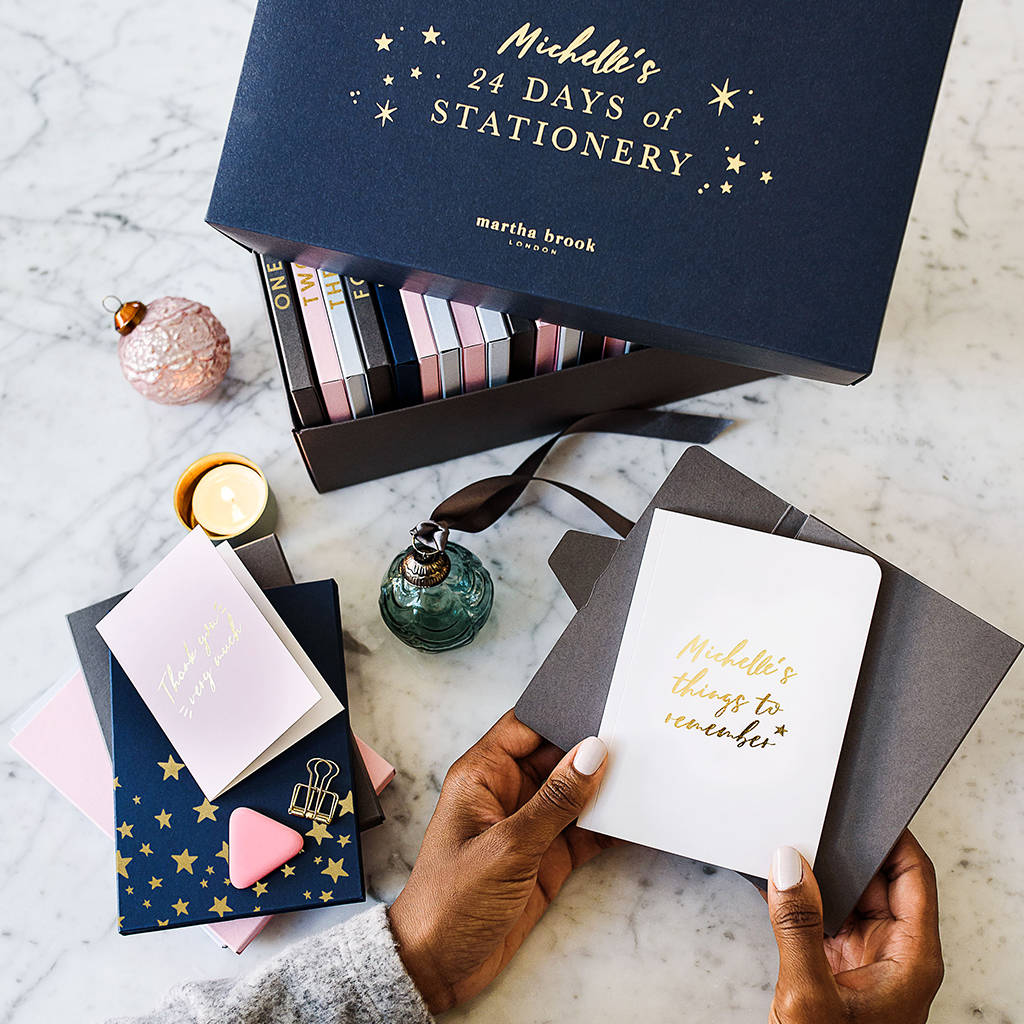 Advent calendar for stationery lovers from Martha Brook