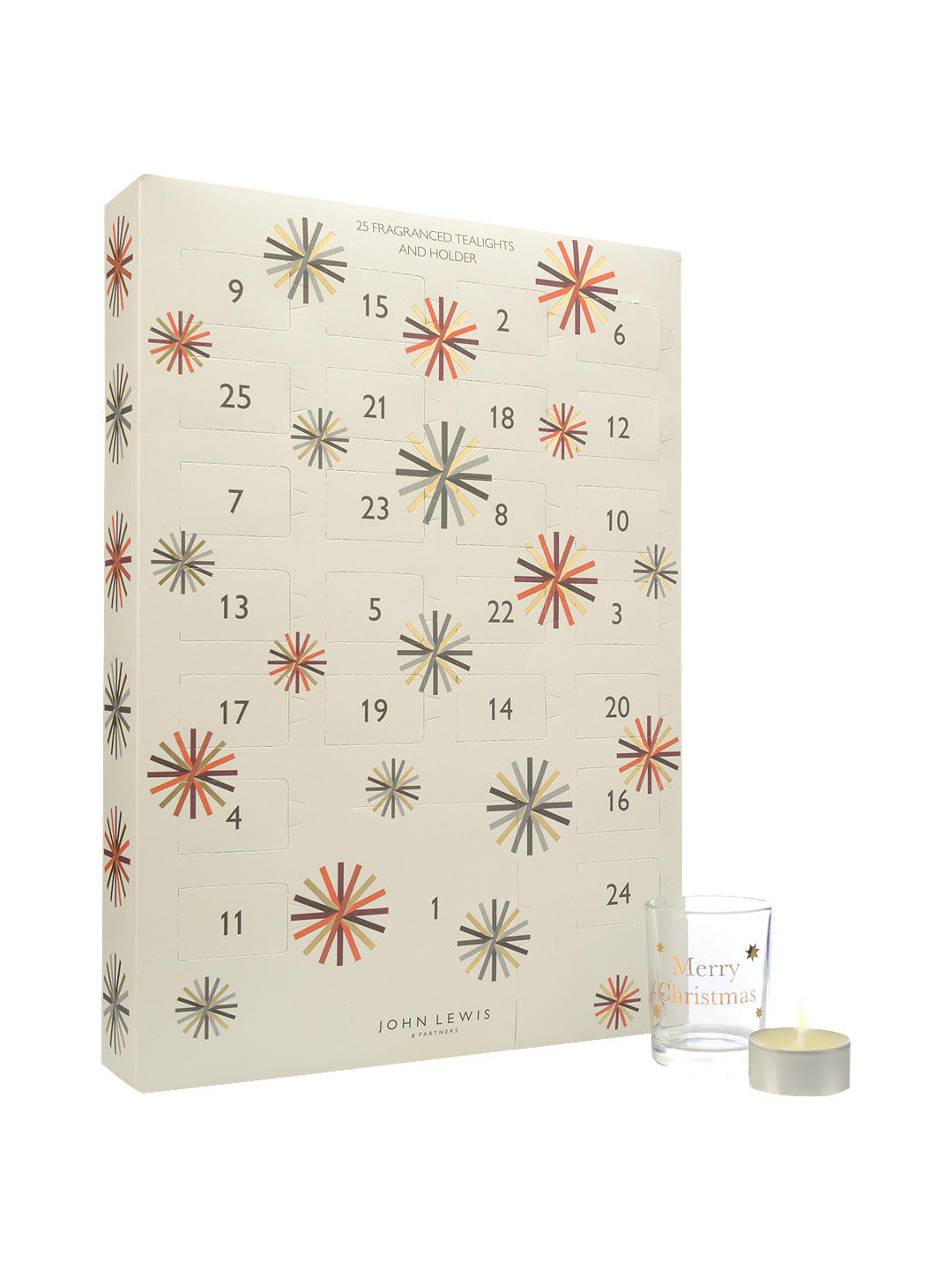 Scented tealight candles abound in this Christmas advent calendar dedicated to scented candle
