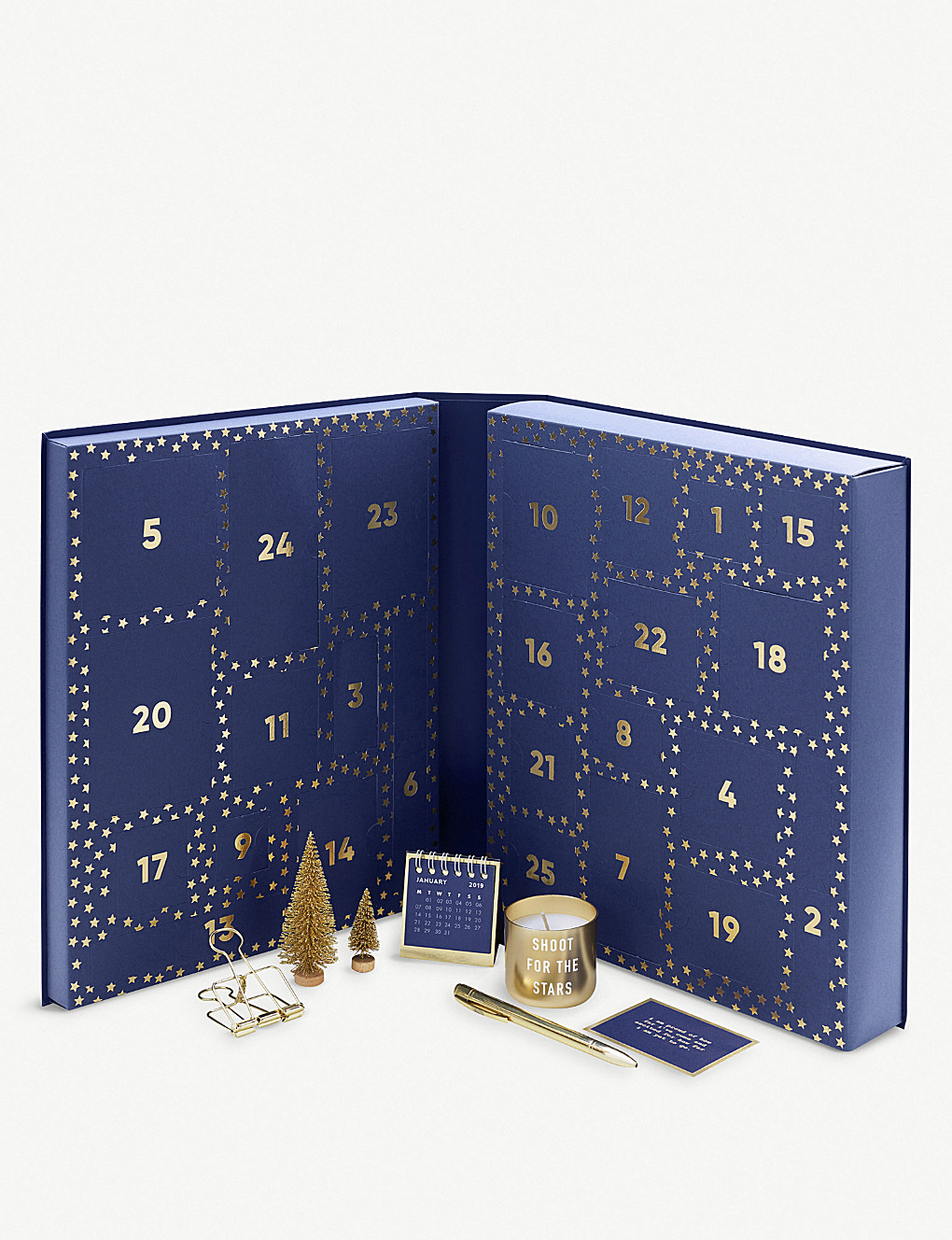 Countdown to Christmas with a stationery advent calendar