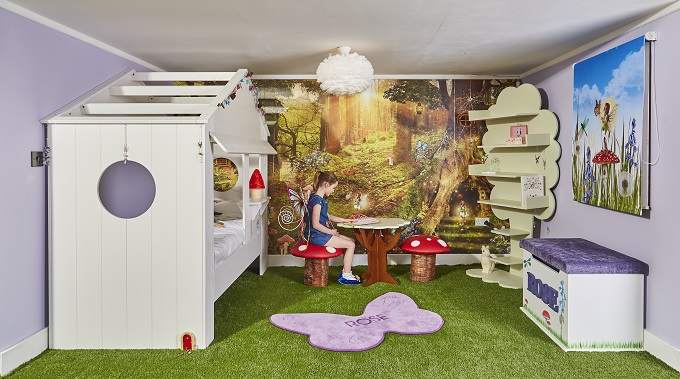 Fairy themed room package for a children's room interior design