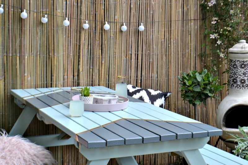Clever garden table makeover idea by Antonia Ludden from #tidylife