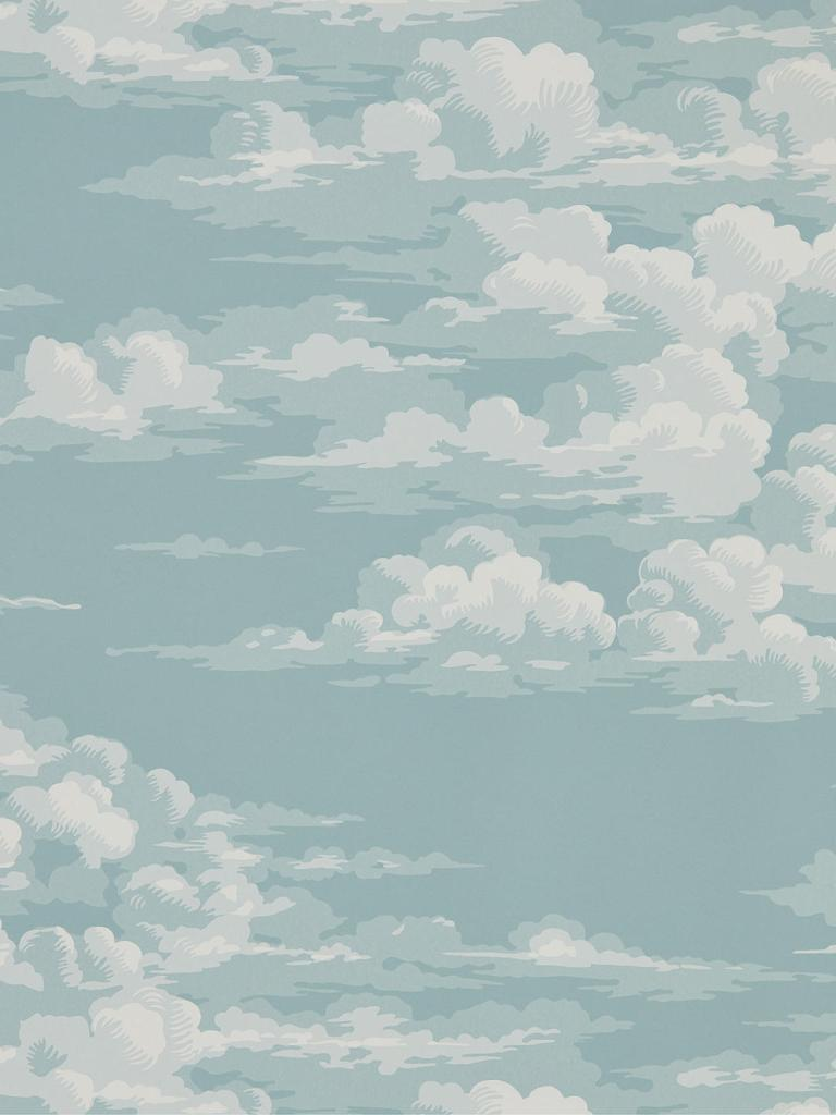 Decorate your walls with this calming silvi cloud design wallpaper