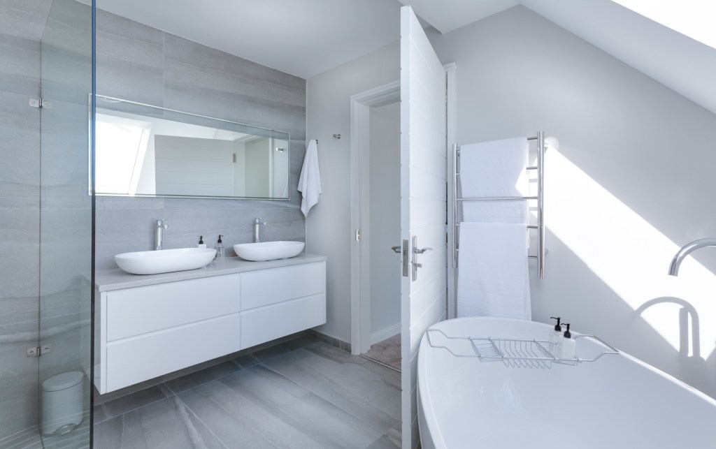 Waterproof wall panels are a great alternative to ceramic tiles in a bathroom