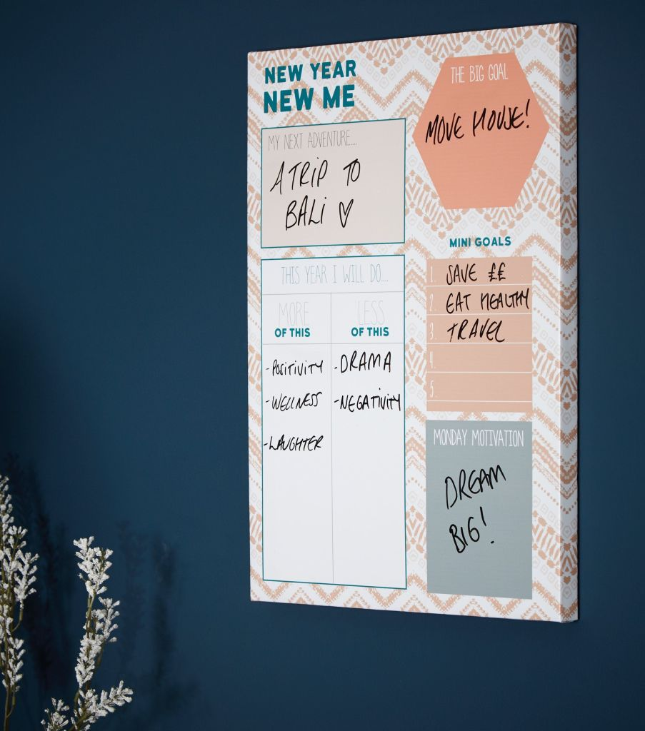 Set yourself goals and aims for the year and use this planner for continued motivation