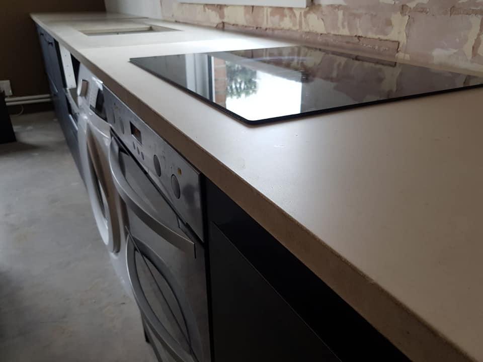 Contemporary concrete kitchen worktops