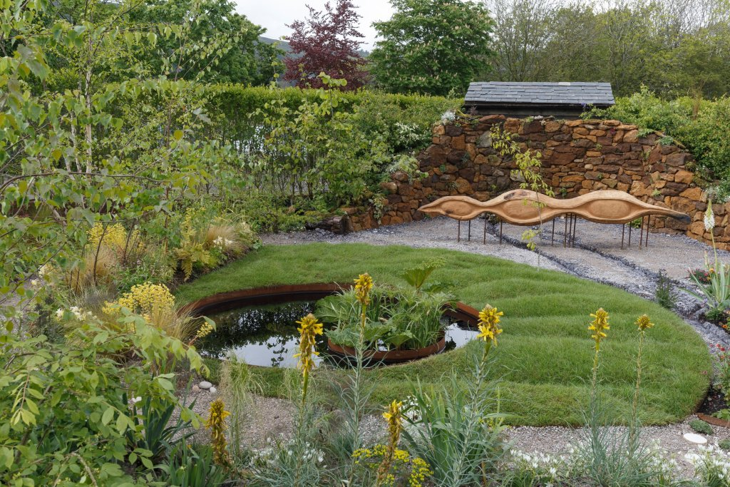 Grace & Dignity show garden. Designed by Lucie Giselle Ponsford. RHS Malvern Spring Festival 2019.