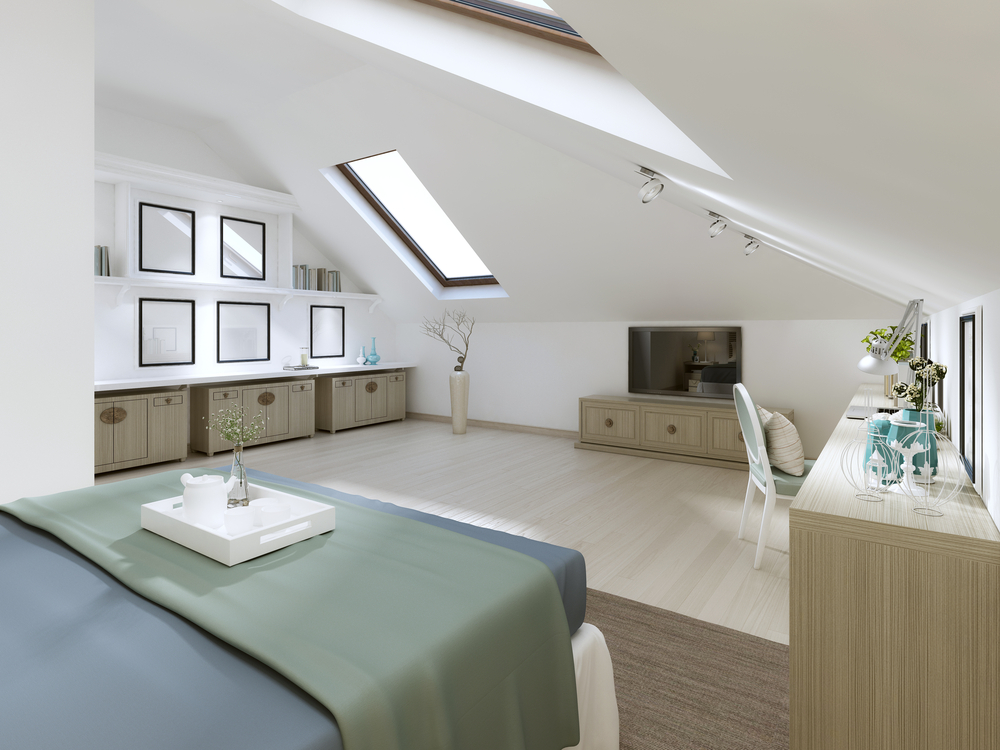 A good source of light is an essential component of an effective loft conversion room