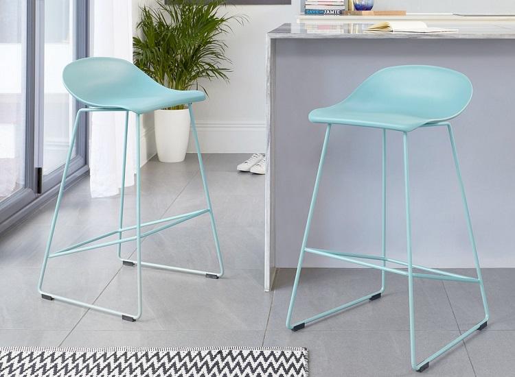 Danetti Luna bar stool in A.I. Aqua