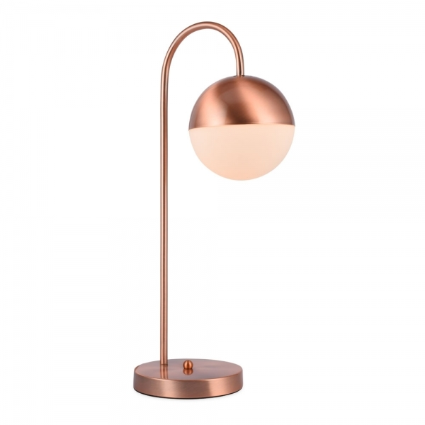 Gorgeous copper design desk lamp that's great to use for adding autumn style into your home