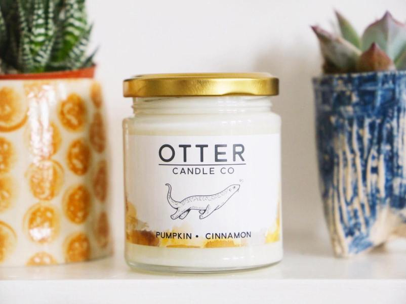 This pumpkin and cinnamon candle is the perfect home fragrance for a Halloween party