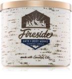 Bring back memories of sitting around an open fire at Christmas with this fireside scented candle