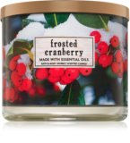Frosted cranberry seasonal home scent candle