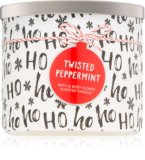 Twisted peppermint scented candle