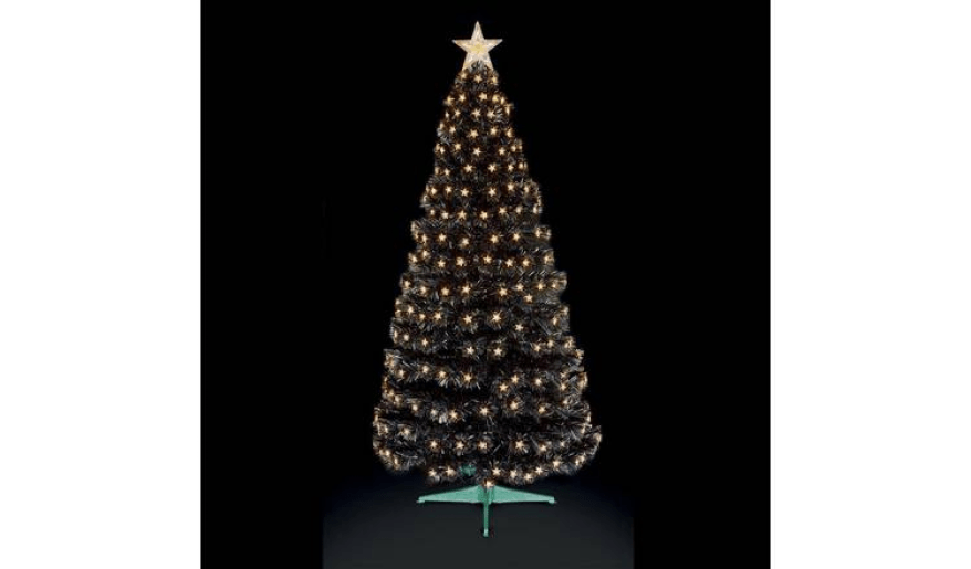 Black alternative Christmas tree that makes a statement!
