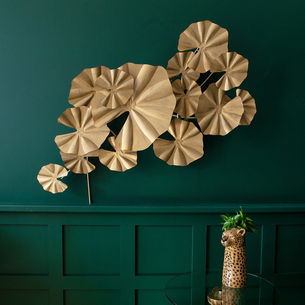 One of the fresh new finds from Fresh Design Blog is this amazing 3D lily pad leaf design piece of wall art - it's perfect for adding a big feature to your wall.