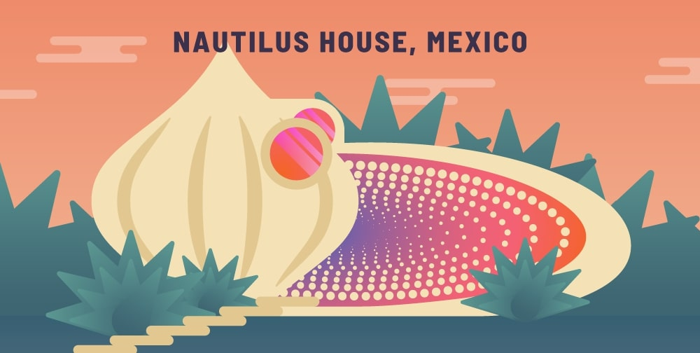 The Nautilus design house was an architecture design from Mexisco