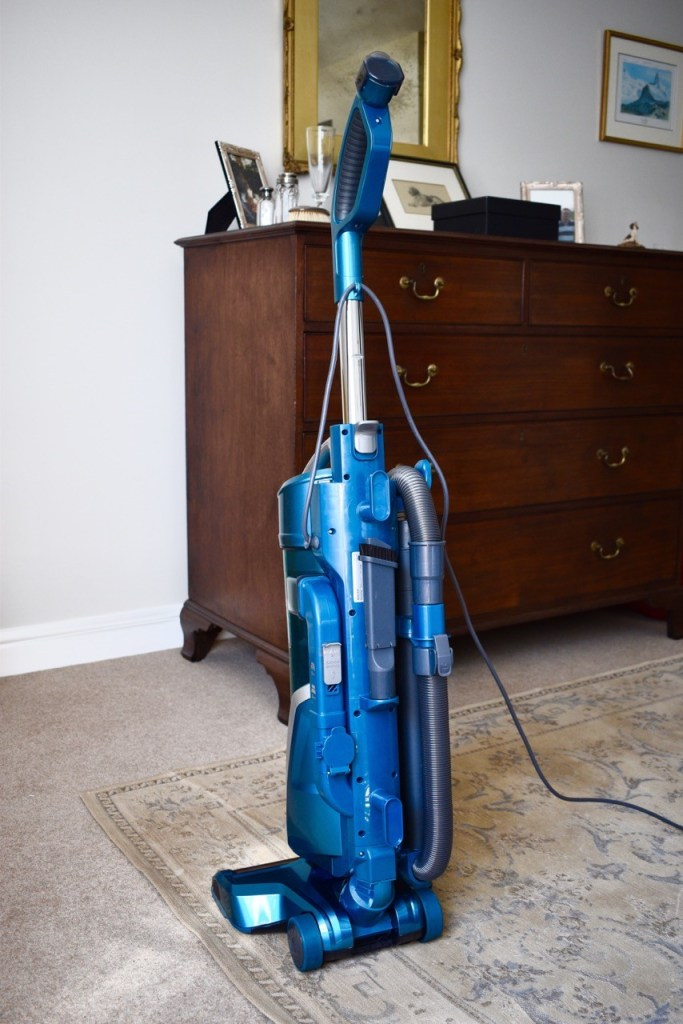Metallic blue H-UPRIGHT 500 Reach vacuum cleaner from Hoover