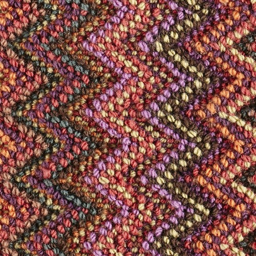 Love this designer carpet with its zigzag design
