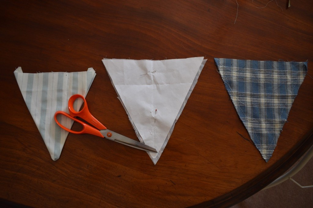 Step-by-step guide to making your own garden bunting