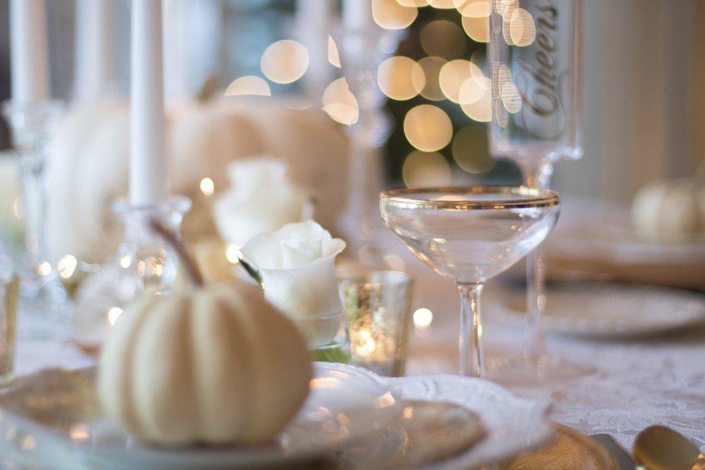 Create a seasonal themed dinner party, like this autumn fall one