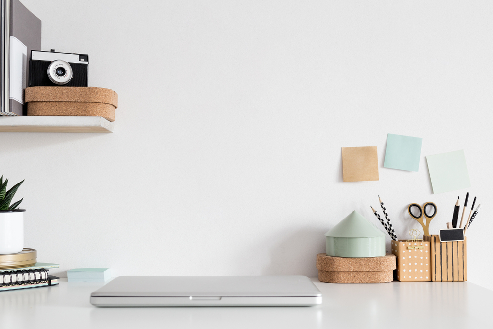 Getting your home office organised and tidy will aid work productivity
