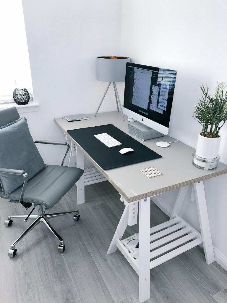 Practical desk to use for setting up a work at home space