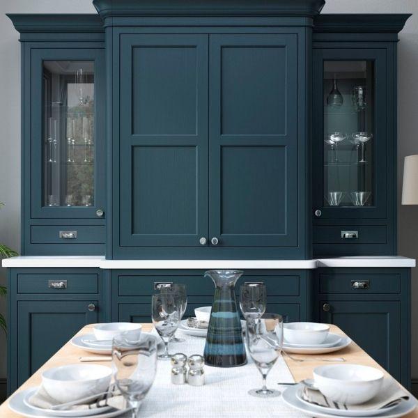 Deep blue kitchen design idea