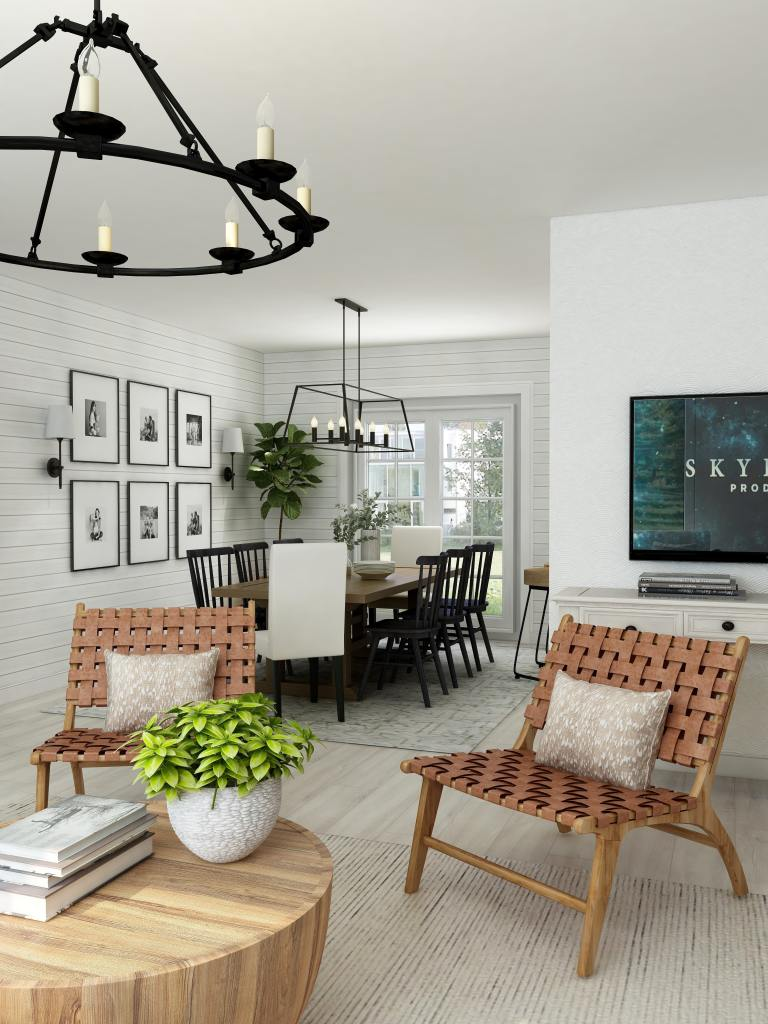 Chic farmhouse inspired design for a modern home
