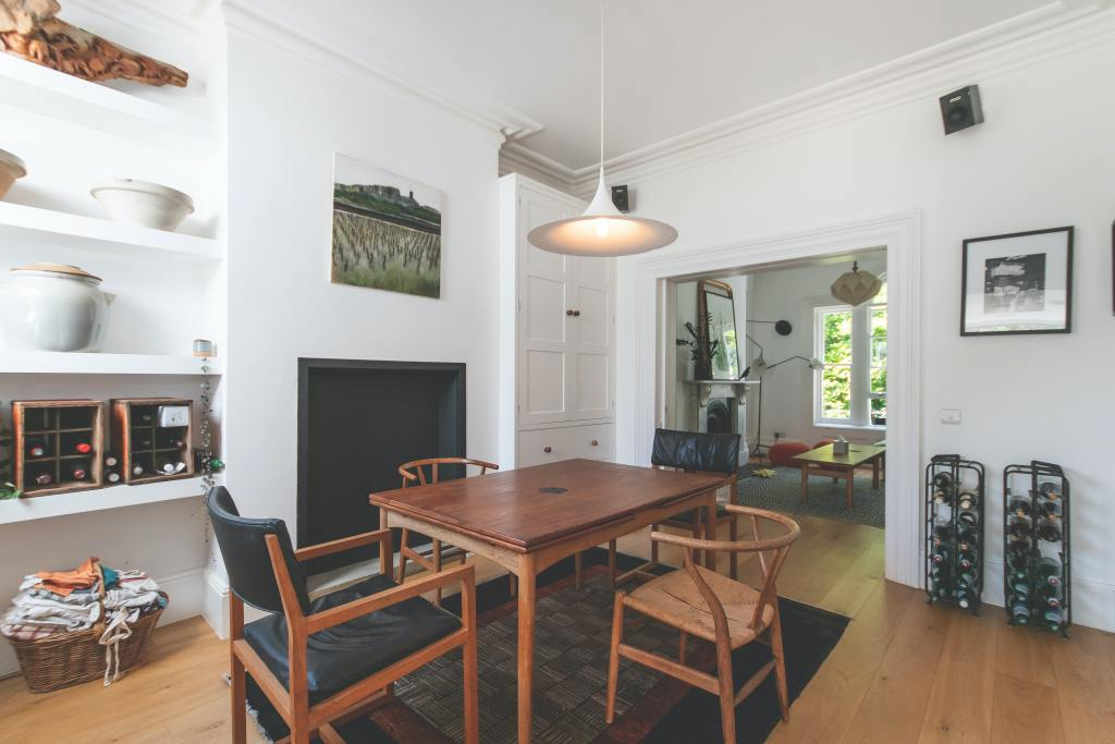 Dining room interior of a rented home