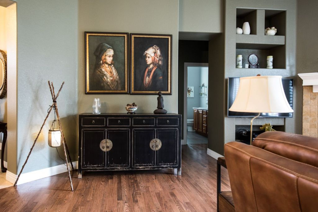 Vintage furniture and decor work well in a contemporary home