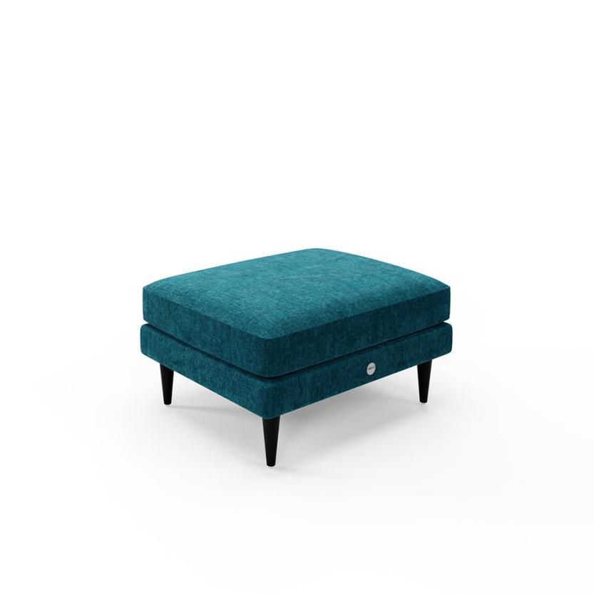 The Footstool in teal, Snug Sofa