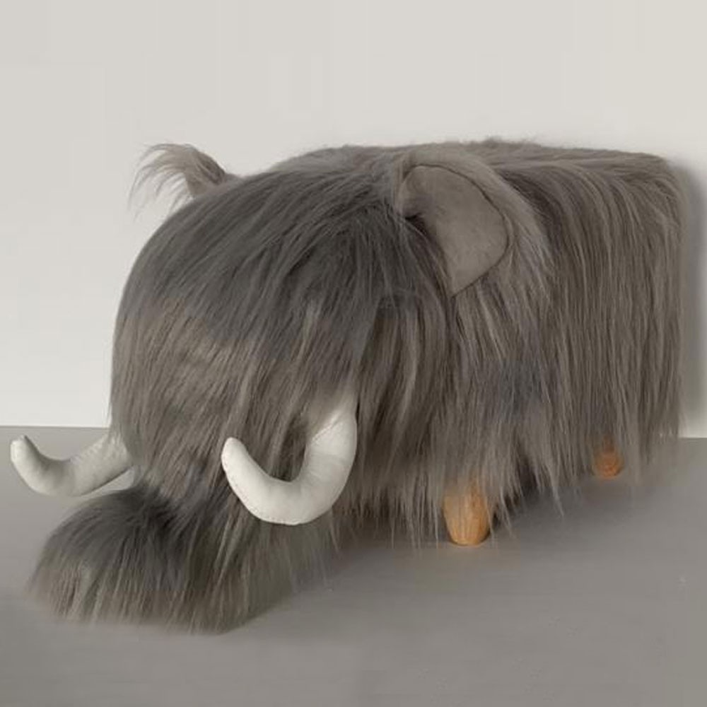 Wilma the woolly mammouth footstool, Red Candy