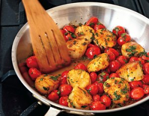 scallops and cherry tomatoes recipe
