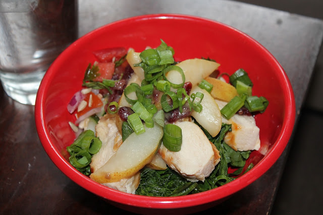 chicken pear protein salad recipe