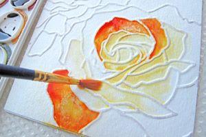 glue painting DIY craft