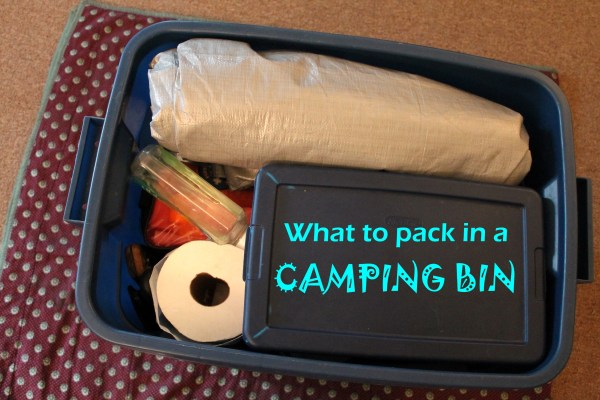what to pack in a camping bin