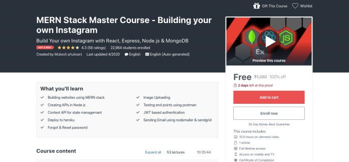 Free MERN Stack Certification Course