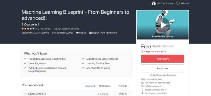 Machine Learning Blueprint - From Beginners to Advanced
