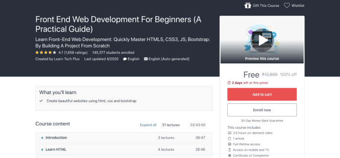 Front End Web Development For Beginners (A Practical Guide)