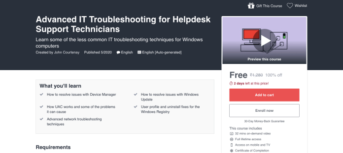 Advanced IT Troubleshooting for Helpdesk Support Technicians