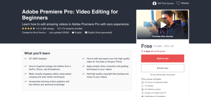 Adobe Premiere Pro: Video Editing for Beginners